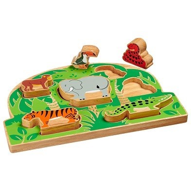 jungle shape sorter wooden toy by lanka kade