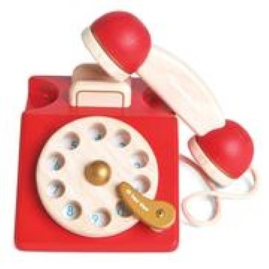 red toy home phone
