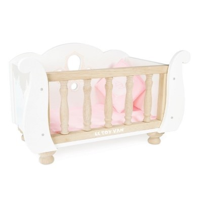 le toy van sleigh dolls cot bed
