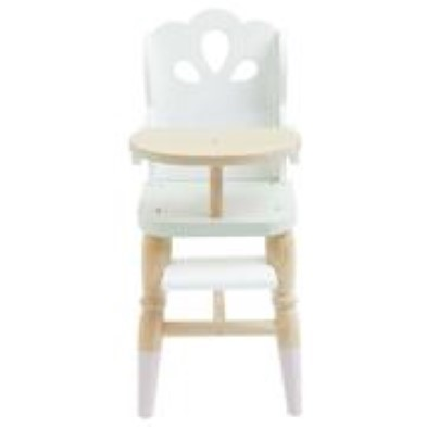 front view of wooden high chair