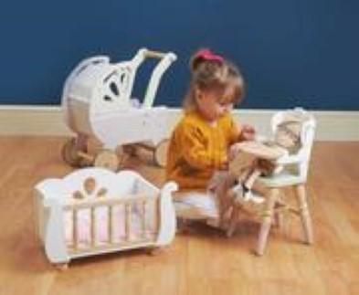 e toy van dolls high chair