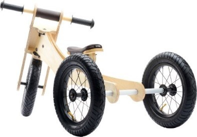 Try Bike Wooden Tricycle behind view