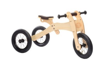 side view of wooden trybike