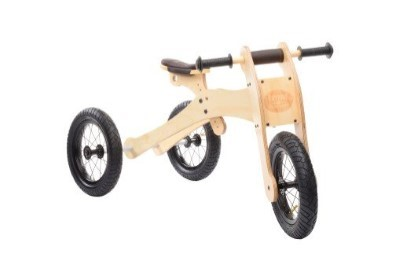 front view of wooden trybike