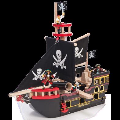 Barbarossa pirate ship and papo Pirates