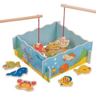 bigjigs wooden magnetic fishing game