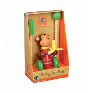Orange Tree Toys Monkey Push Along