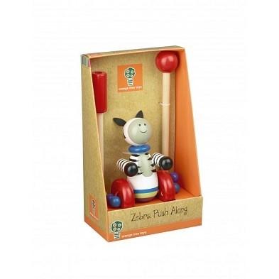 push along zebra wooden toy by orange tree toys boxd