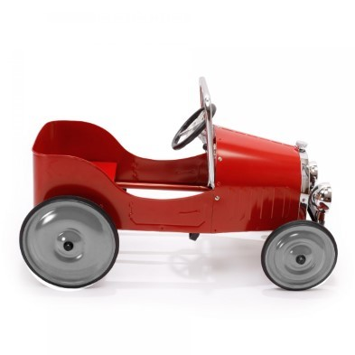 baghera red pedal car 1938 side