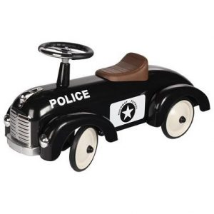 GOKI POLICE CAR METAL RIDE ON