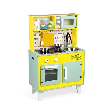 janod happy day big cooker wooden toy