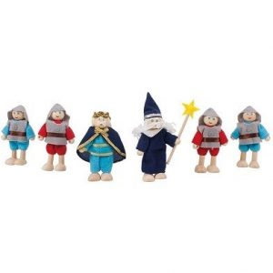 heritage playset knights set by bigjigs
