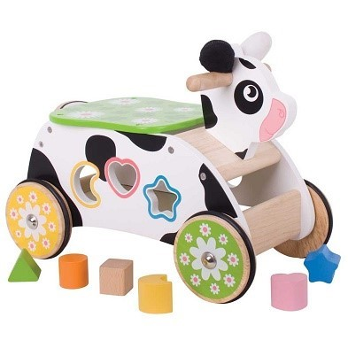 cow ride on toy by bigjigs