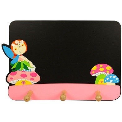 bigjigs fairy blackboard with coat hooks