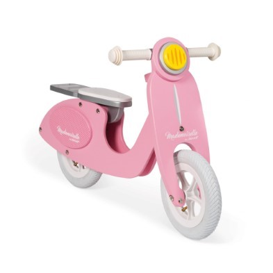pink scooter balance bike janod