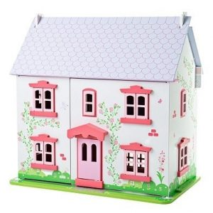 bigjigs heritage playset rose cottage dolls house