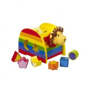 orange tree toys lion shape sorter