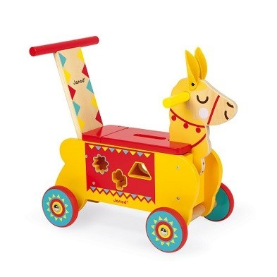 llama ride on toy by janod