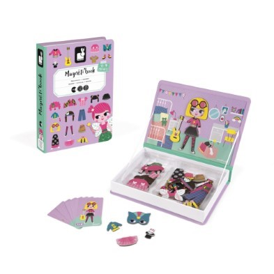 janod girls costume magnetic book