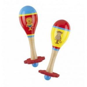 Orange Tree toys Lion and Monkey childrens maracas