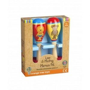 Lion and Monkey Maraca Set