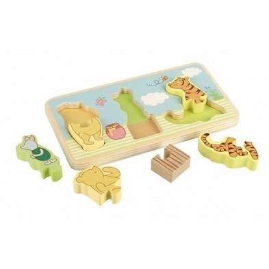 pooh puzzle tray pieces by orange tree toys