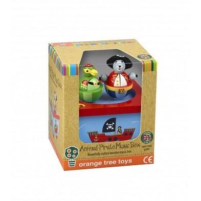Animal pirates music box by orange tree toys boxed