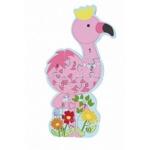 flamingo number puzzle by orange tree toys