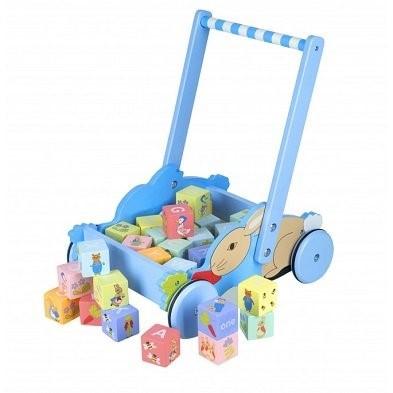 peter rabbit alphabet blocks trolley by orange tree toys