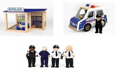 Wooden Police Playset Bundle