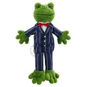 Dressed frog puppet