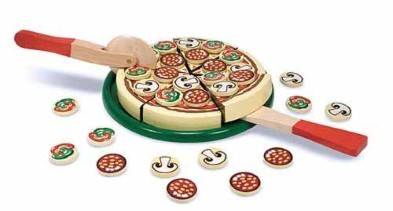 fake pizza set