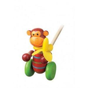 monkey push along toy by Orange Tree Toys
