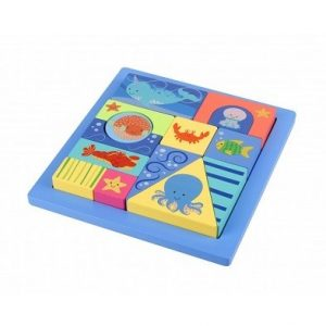 Orange Tree Sealife Block Puzzle Tray