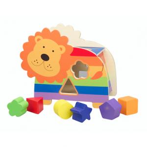 Orange Tree Toys Lion Shape Sorter