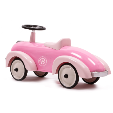 pink girl car sideview