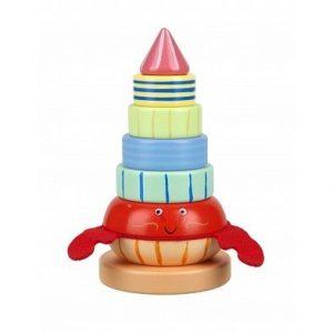 hermit crab stacking toy by orange tree toys
