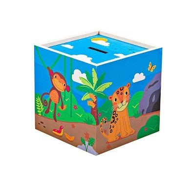 bigjigs jungle animal money box by tidlo