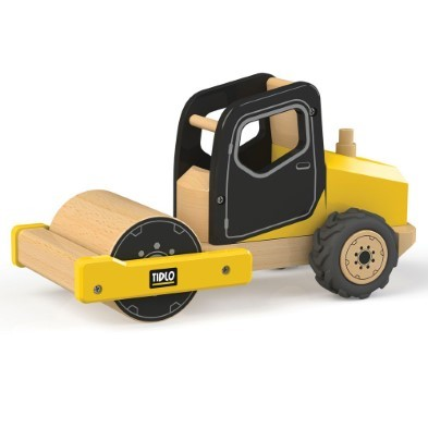 Wooden road roller Construction toys by Tidlo at The Toy Centre