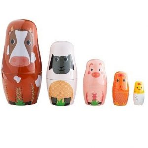bigjigs farm animal russian dolls by tidlo