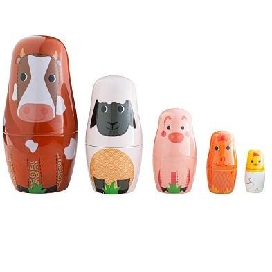 bigjigs farm animal russian dolls by tidlo