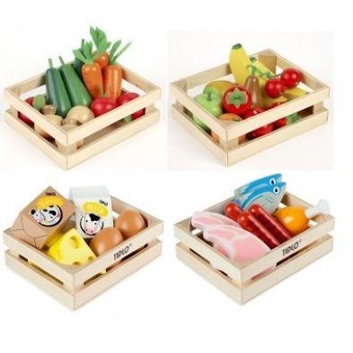tidlo wooden play food bundle