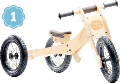 trybike in natural wood