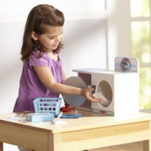 Wooden Wash,Dry and Iron Play Set